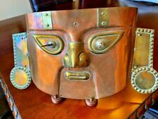 Copper and Bronze Wall Mask