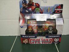 Marvel Minimates Black Widow and Crossbones Set Captain America