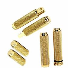 Harley Dyna Sportster FXR Brass Grips, Foot Pegs, Toe Pegs Bundle - Made In USA