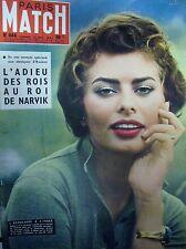 París Match N º 444 de 1957 Sophia Loren Jayne Mansfield Dominici Burma Padaun