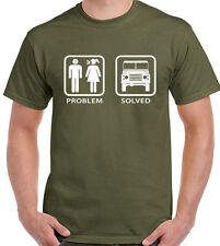 Problem Solved Defender Mens Funny T-Shirt Land Rover Off Roading 4x4 90 110 SVX