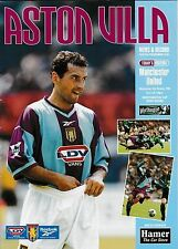 Football Programme>ASTON VILLA v MAN UTD Apr 1999 Worthington Cup