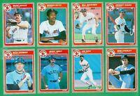 1985 FLEER BOSTON RED SOX TEAM SET -1 NMMT  BOGGS  BUCKNER  EVANS  REMY  RICE