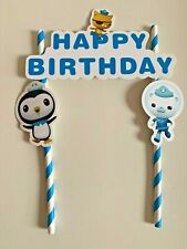 Octonauts themed Cake Ice cream Topper Kids Birthday Party decoration diy