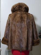 Beautiful real Fur sable hue autumn haze Mink short coat jacket