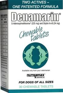 Nutramax Denamarin Chewable Tablets for All Size Dogs 30 or 75 ct