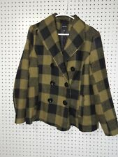 Juniors Rampage plaid green/black winter coat - XL