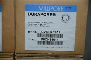 Millipore CVGB75S01 Durapore Hydrophobic Cartridge Filter Pore Size 0.22um