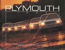1985 Plymouth FL Brochure Gran Fury/Horizon/Turismo/Reliant/Caravelle/Voyager