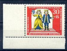 Berlino mi-nr 312 (30+15 PF) angolo 3 assistenziale marchio ** Post fresco 1966