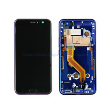 For HTC U11 Touch Screen LCD Digitizer with Frame Sapphire Blue 5.5 inch US