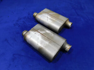 Ford Mustang Flowmaster 42443 Muffler Pair Of Mufflers Good Used Cut Outs Q84