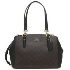 New Coach F58291 Small Christie Carryall Satchel Handbag Purse Bag Brown/Black