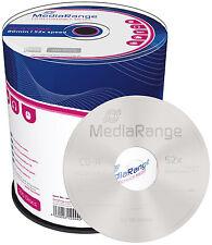 100 MediaRange CD-R 700Mb 80Min 52x Rohlinge Cakebox 100er Spindel