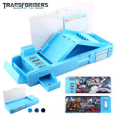 Transformers Students Multifunction Stationery Pencil Case Korean Sky Blue Box