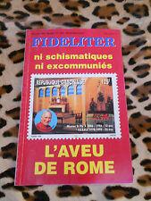 Revue - FIDELITER n° 111, 1996 - L'aveu de Rome