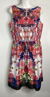 Liz Claiborne Silky Dress Size 10 Floral Fit And Flare Classic Style New