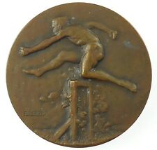 New listing France sports athletics nude Hurdles by Fraisse bronze 50mm