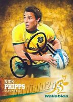 ✺Signed✺ 2016 WALLABIES Rugby Union Card NICK PHIPPS