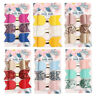 3Pcs/Set Sequins Bow Hair Clips Hairpin Baby Girls Faux Leather Hair Accessories