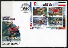 SIERRA LEONE  2018  PLANES OF WORLD WAR I  SHEET FIRST DAY COVER