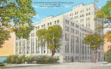 MADISON, WI Wisconsin    NEW STATE OFFICE BUILDING    1948 Linen Postcard
