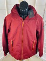 $148 Timberland Burgundy Fleece-Lined Waterproof Jacket w/Hood, Men's Large, New