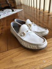 Mens white Gucci horse-bit loafer. New condition, size 8.5. Unique vintage style