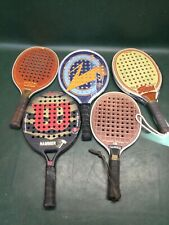 Lot of 5 Vintage Wooden, Molded Graphite Tennis Paddles ~ Wilson, Marcraft