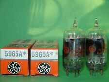 2 GE 5965 A Clear Tops Vacuum Tubes Results =  6500 5900 6100 6575