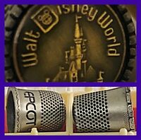 Vintage Disney Thimbles Epcot Center Disney World Pewter NIB