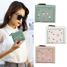 Women's Cute Short Small Wallet Lady Embroidered Folding Coin Card Holder Purse