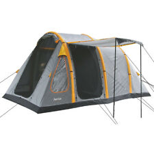 Highlander Aeolus 4 Person Large Family Inflatable Tunnel Camping Tent Rock Grey
