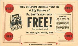 Advertising Soda Doctor Sweets Root Beer Artist impression Postcard 21-2030
