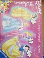 RAVENSBURGER Disney Princess Vintage Jigsaw Puzzle (4 Jigsaws) All pieces in box