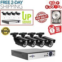 8 Channel 1080P DVR 2MP Outdoor Home Surveillance Security Camera System 1TB HDD