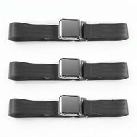 AMC AMX 1967 1974 Airplane 2 Pt. Charcoal Lap Bucket Seat Belt Kit 2 Belts