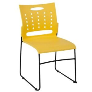 Flash Furniture Modern Yellow Plastic Accent Chair