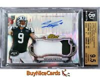 2015 Bryce Petty Topps Finest Pulsar Refractor RC Rookie Patch Auto /35 BGS 9.5