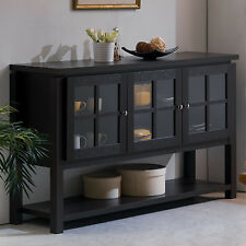 Buffet Table Cabinet Sideboard Hutch Dining Kitchen Server Furniture Storage New
