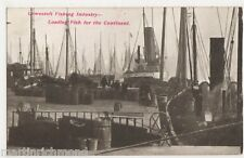 Lowestoft Fishing Industry, Loading Fish For The Continent 1907 Postcard, B458