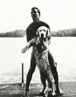 1987 Bruce Weber Young Man & Dog Ted & Rowdy Adirondacks New York Photo Gravure