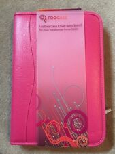 rooCASE LEATHER CASE COVER & STAND FOR ASUS TRANSFORMER PRIME TABLET **PINK""