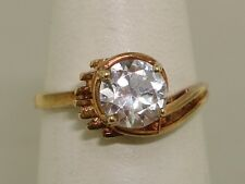 ANTIQUE ART DECO 10K ROSE GOLD APPROX. 60 PTW BRILLIANT EUROPEAN CUT SPINEL RING