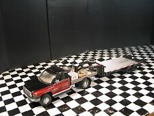 1/18 dually flatbed Dodge with gooseneck trailer for shop,garage,diorama or gas
