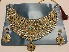 Bridal Choker set with earrings