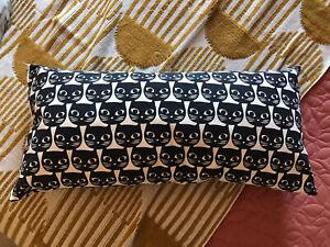Ikea Black White Cat Bolster Cushion