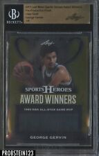 2017 Leaf Metal Pre-Production Proof Clear Gold George Gervin BGS 1/1
