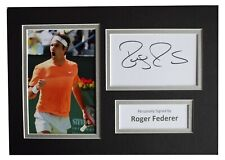Roger Federer Signed Autograph A4 photo display Tennis Memorabilia AFTAL COA