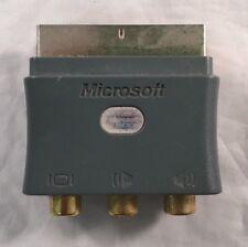 GENUINE MICROSOFT SCART ADAPTER BLOCK FOR XBOX 360